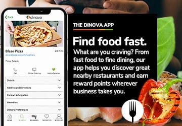 The DInova Application on Smart Phone Screen
