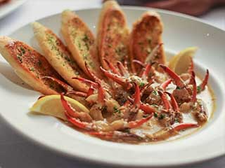 Sauteed crab claws