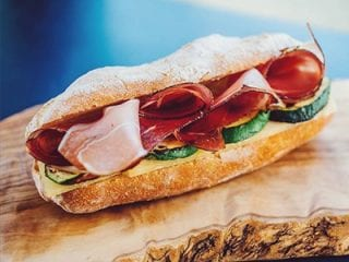 Sandwich with Ham, Avocado and cheese