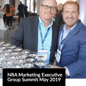 NRA Marketing Executive Group Summit May 2019 Image with two men smiling