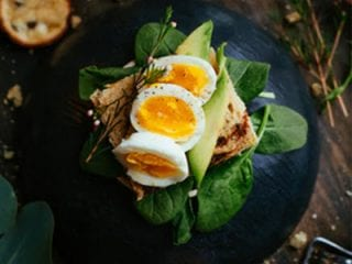 Grilled Chicken with boiled eggs