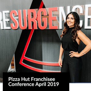 Pizza Hut Franchisee Conference April 2019 Image with a young woman smiling