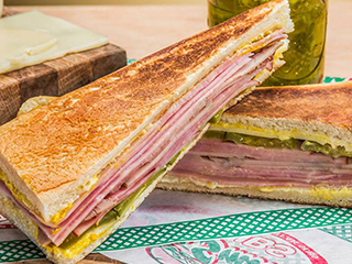Sandwich with Ham,cheese and pickles