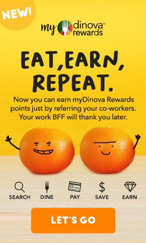 Refer your co-workers to myDinova Rewards for 100 point Image