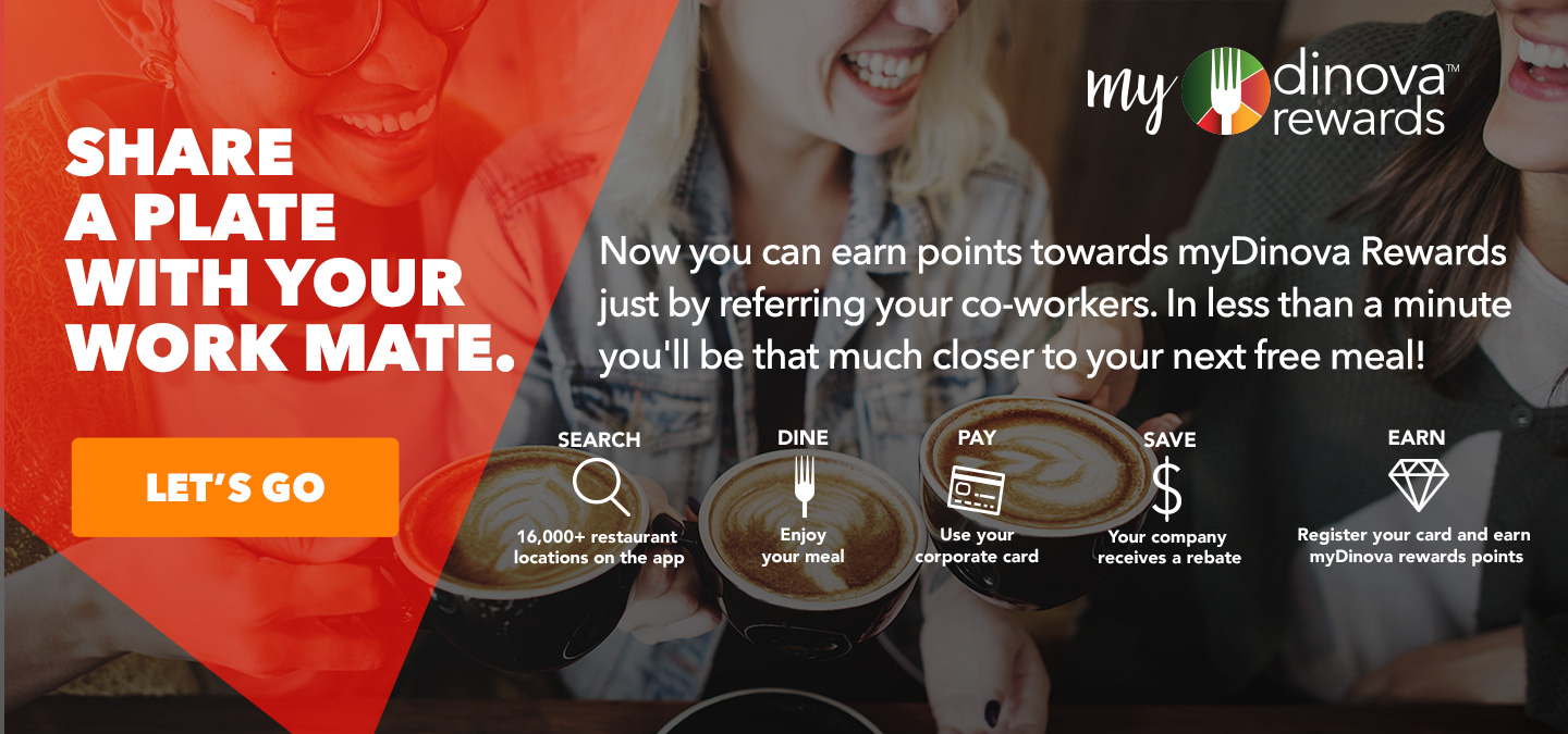 Earn myDinovaRewards points just by referring your co-workers Image