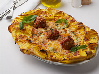 Pizza with Meatballs