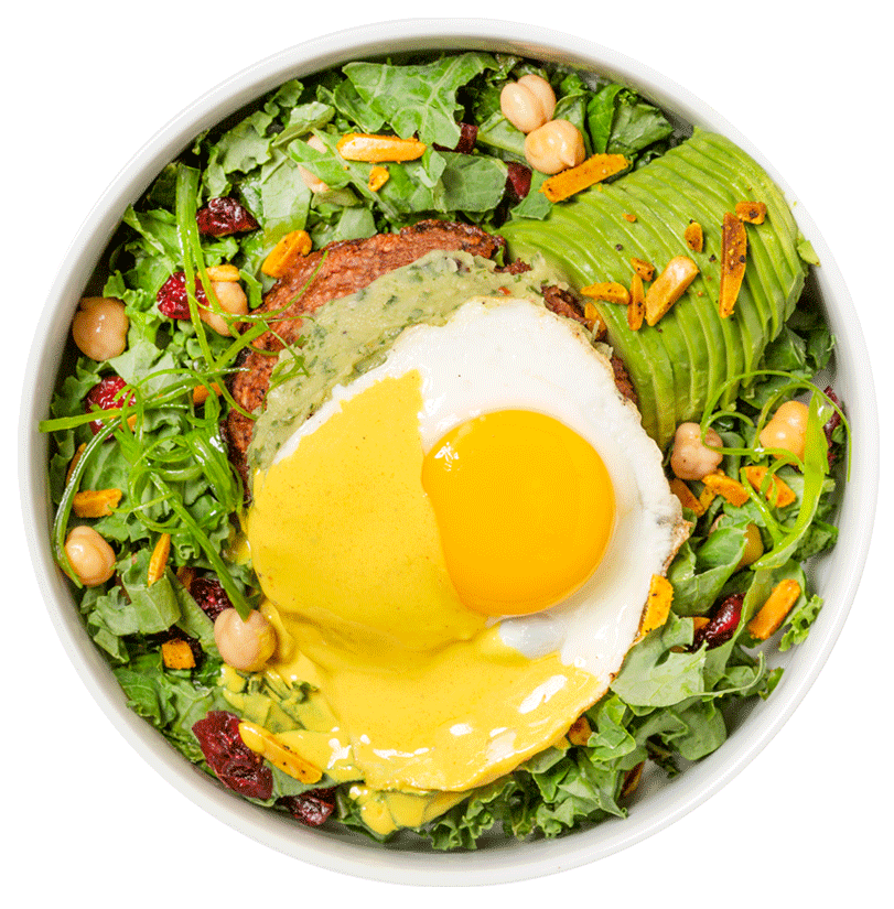 Fried Egg with Avocado and Vegetables