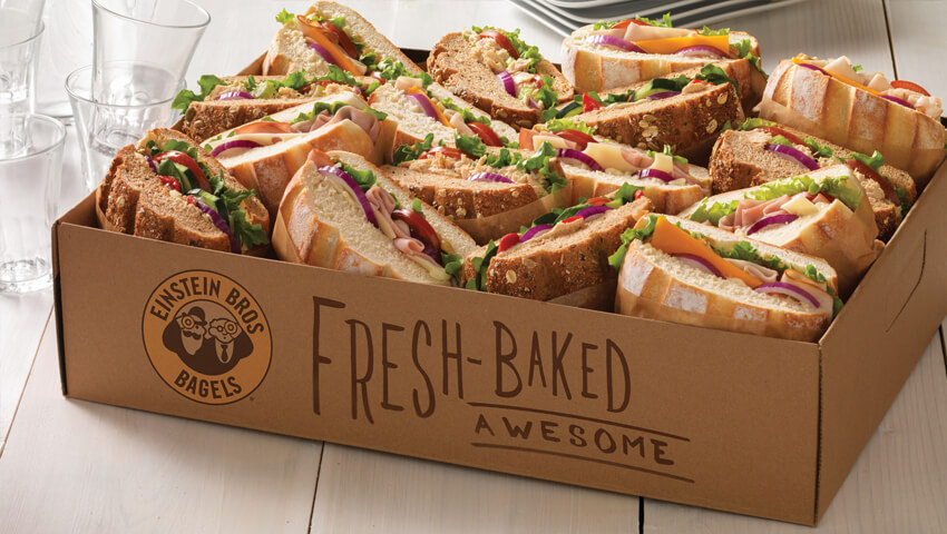 Fresh Baked Sandwiches with Meat, Cheese and Vegetables