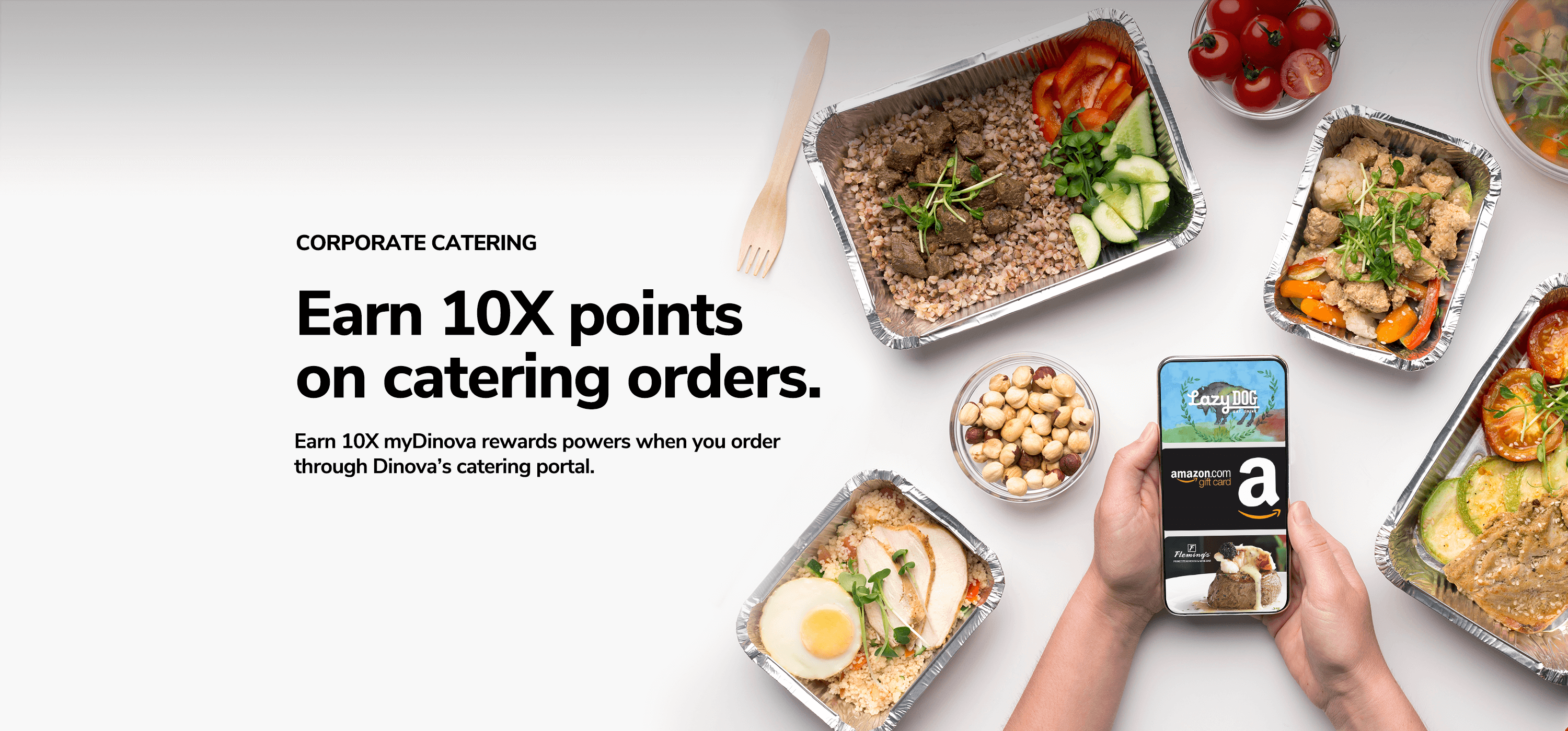 Earn 10X points on catering orders. Dinova Image