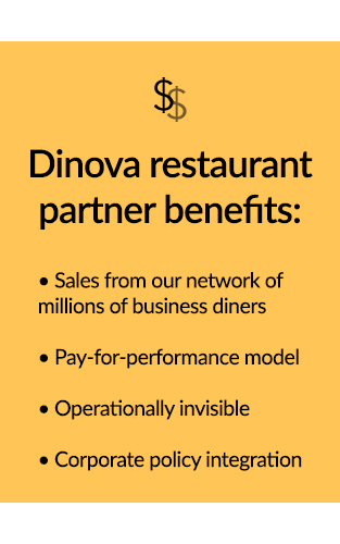 Dinova restaurant partner benefits