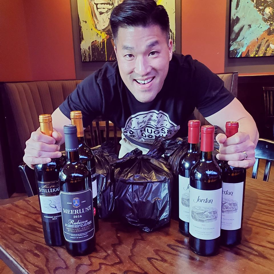 Peli Peli's Thomas Nguyen with a takeout spread