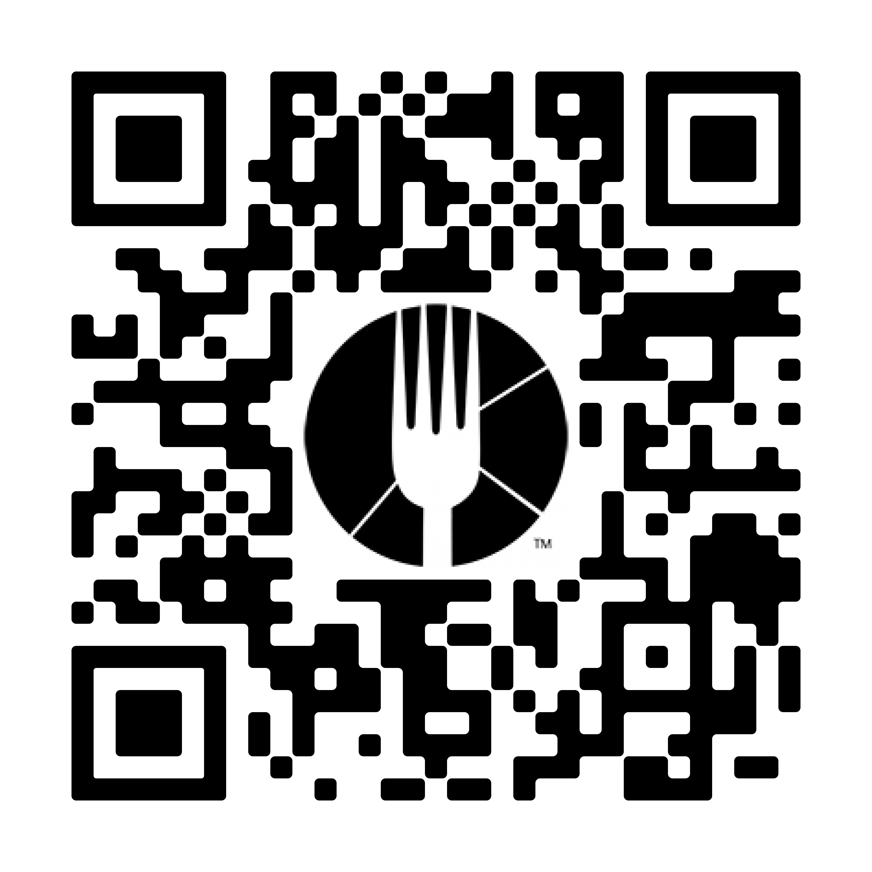 QR code enabling users to download the Dinova iOS app with COVID safety features messing