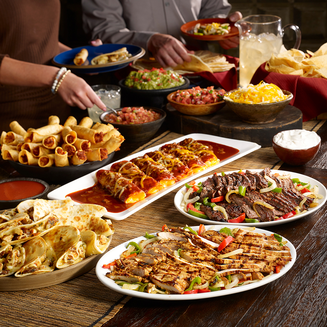Chuy's Mexican food catering spread