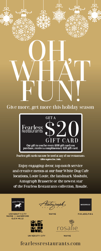 Fearless Restaurants holiday gift cards promo