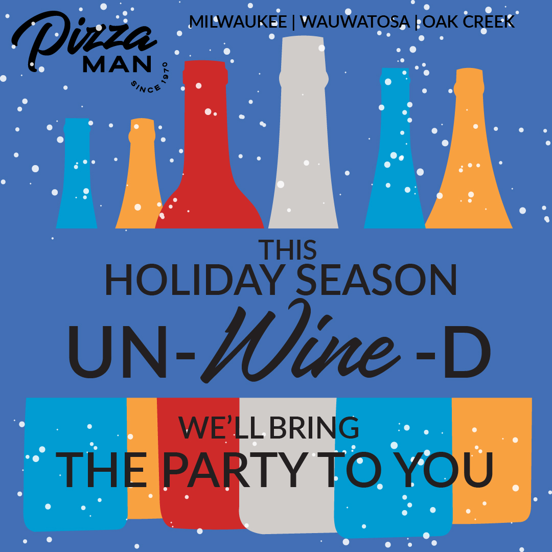 Pizza Man's wine party promo
