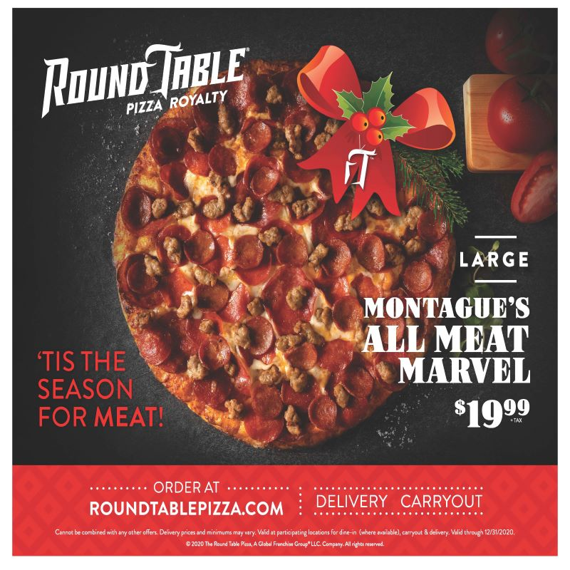 Round Table Pizza All Meat Marvel promo