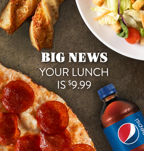 Round Table Pizza Lunch combo promo