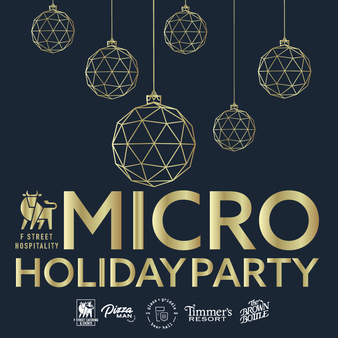 promo piece showing Micro Holiday Party concept for Timmer's Resort