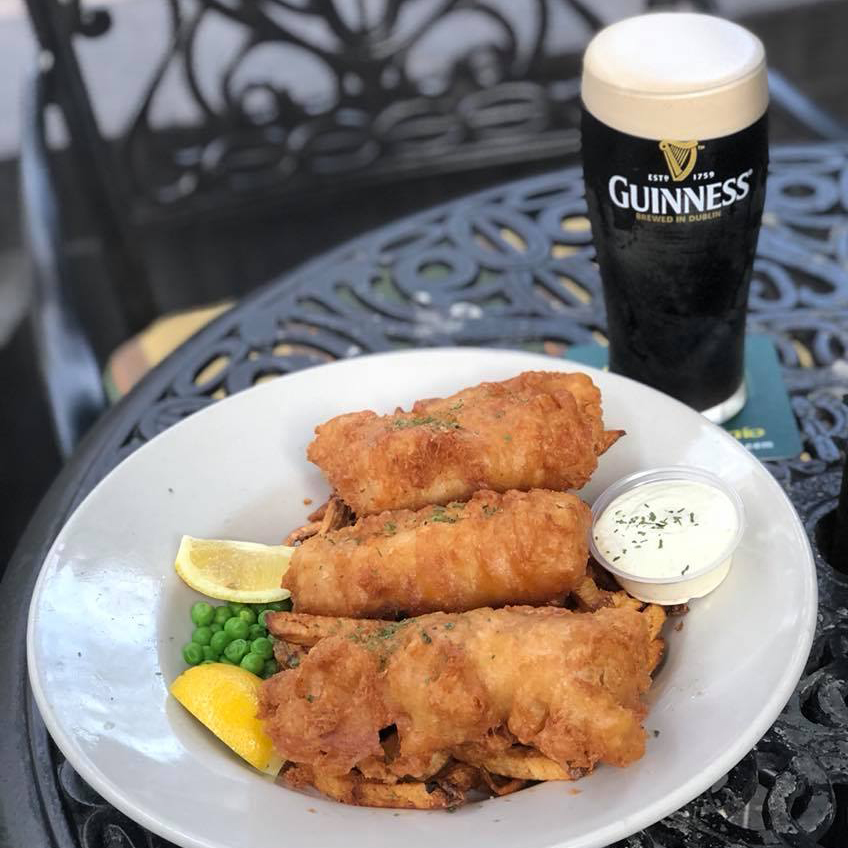 Waxy O'Connor's fish and Guinness