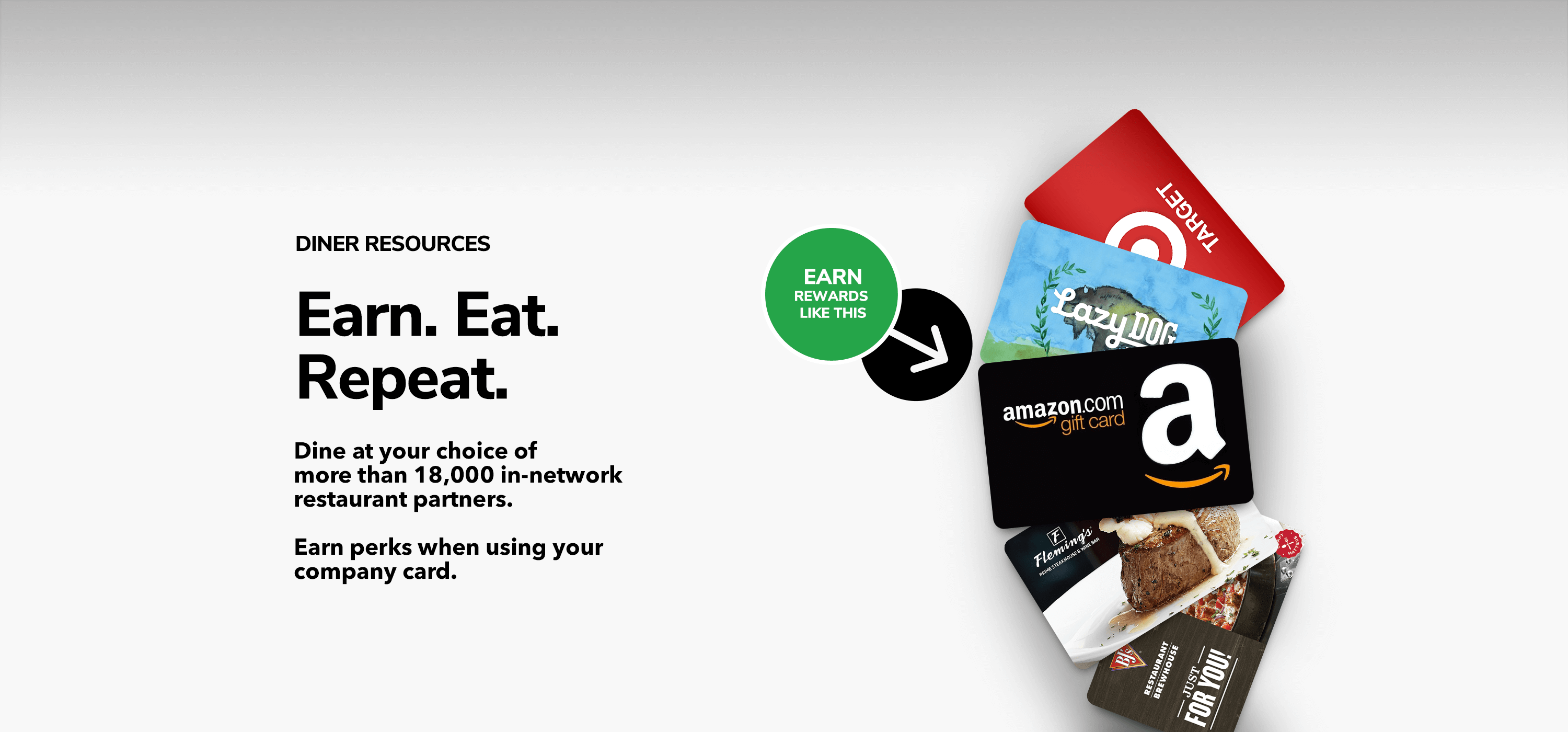 array of gift cards you can earn from myDinova Rewards