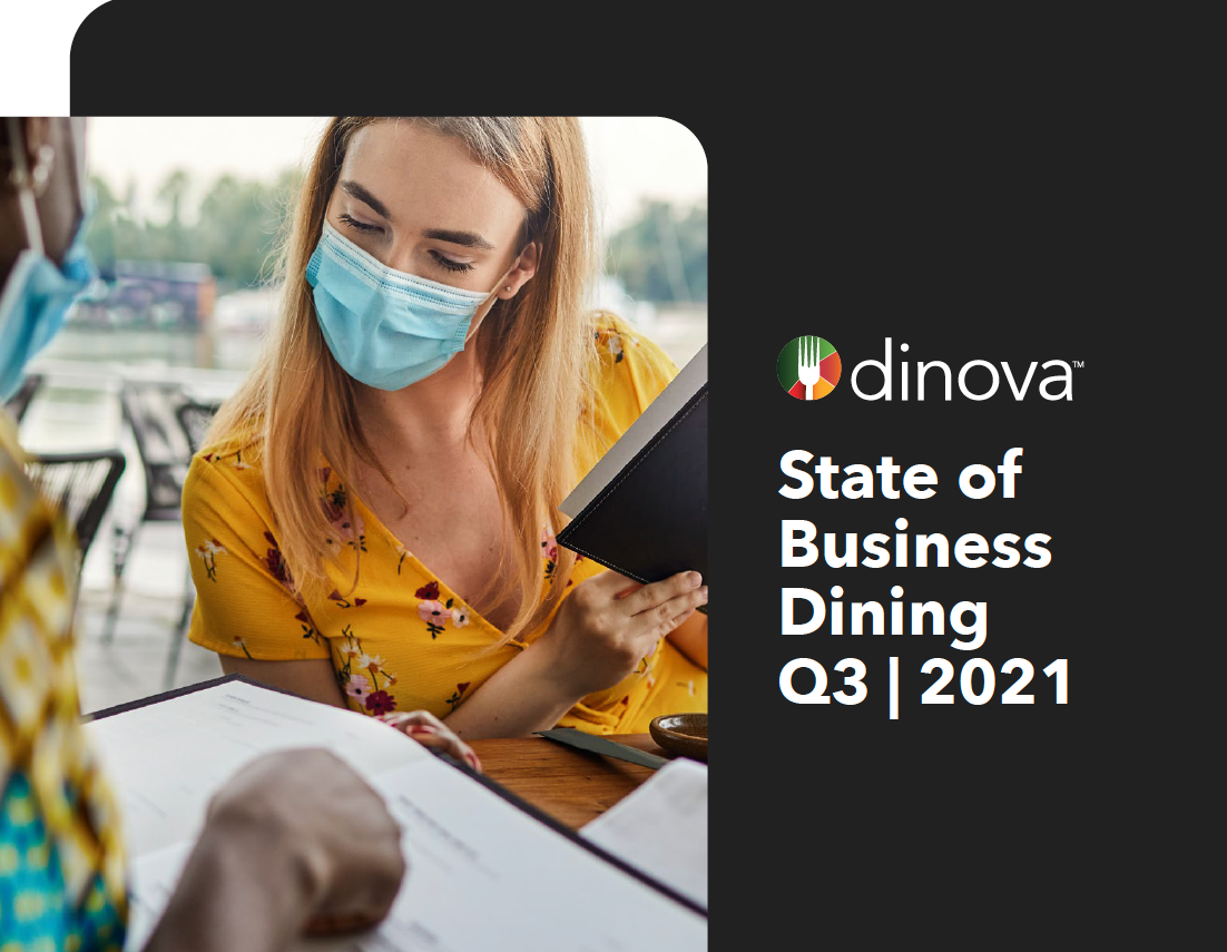 Cover of the Dinova State of Business Dining Q3 2021 report