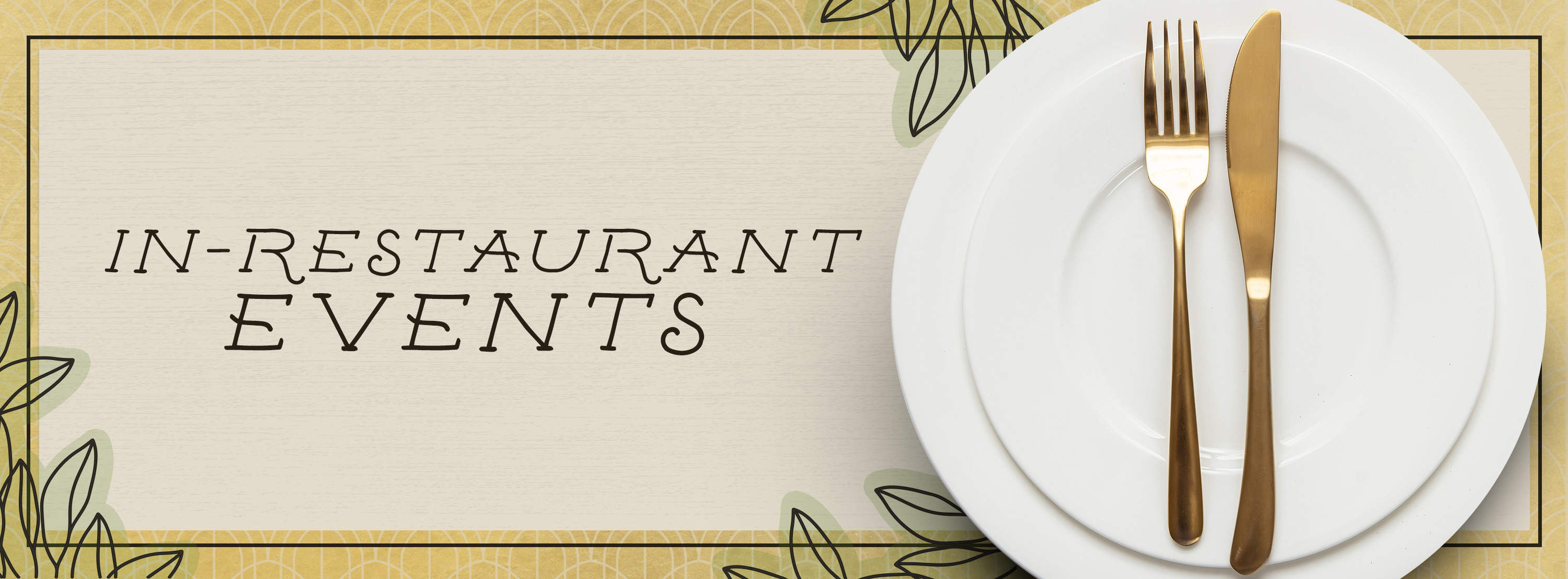 In-Restaurant Events hero image with a fancy place setting